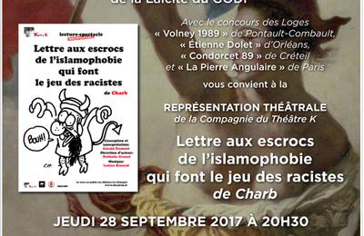 Charb joué au GODF, 28 septembre