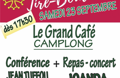 Camplong (34) : Jean Tuffou et Joanda au Grand Café.
