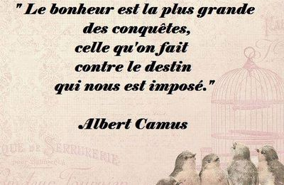 Citation d'Albert Camus sur le bonheur contre le destin