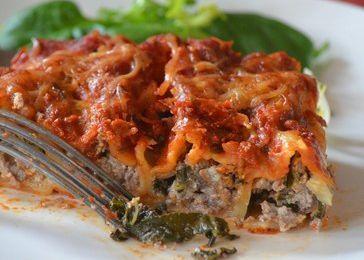 Cannellonis à la viande aux blettes et à la ricotta