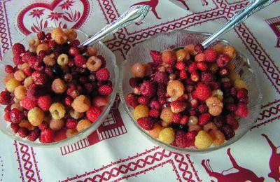 Fruits d'été à la crème battue