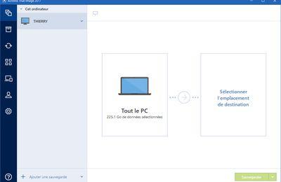 Création d'une sauvegarde Windows 10 sous Acronis image