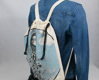 """Recycler un """"tote bag"""" en """" sac à liens """""""