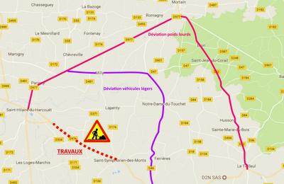 Travaux sur les routes dans la #Manche ! Détails #Sideville #MARIGNY et St-Hilaire-du-Harcouët
