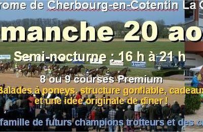 8 courses Premium dimanche en semi-nocturne à l'Hippodrome de #Cherbourg : 8 bonnes raisons d'y aller !