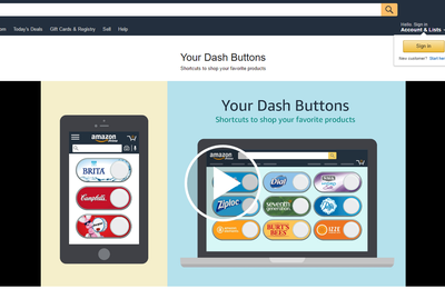 Amazon Dash Virtual Buttons: un membre Prime peut créer ses propres boutons Amazon Dash virtuels.