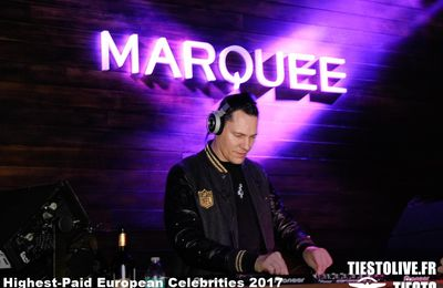 Tiësto, number 13 for the Highest-Paid European Celebrities 2017 #Forbes