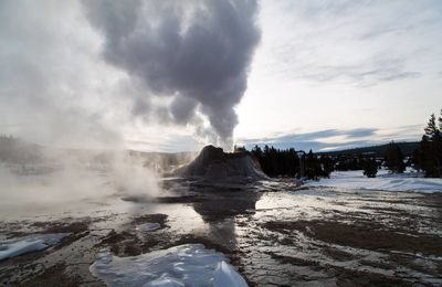 Yellowstone in winter.