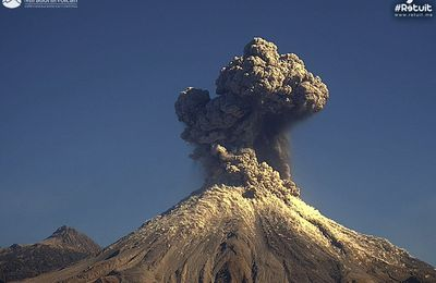The current eruptions at Colima, Turrialba and Sinabung.