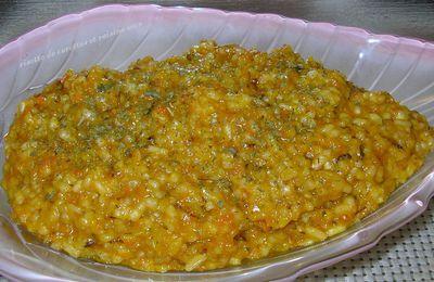 risotto de carottes et raisins secs