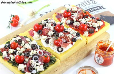 Galettes de Polenta Façon Pizza