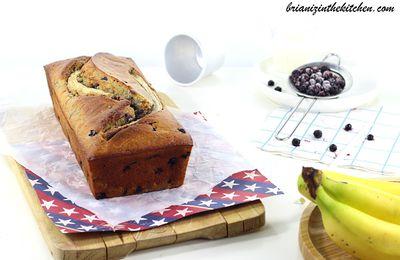 Banana Cake aux Myrtilles