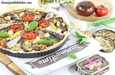 Tarte aux Légumes d'Eté, Sardines et Feta