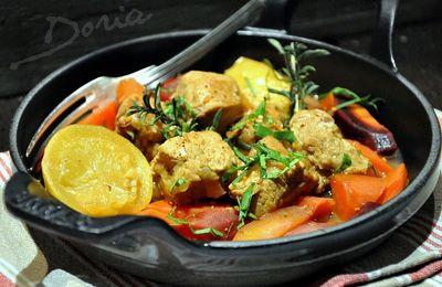 Sauté de veau aux carottes confites et citron confit
