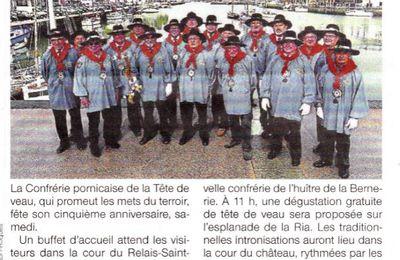 Publication Ouest France et Presse Océan concernant notre 5eme Grand Chapitre 2017.