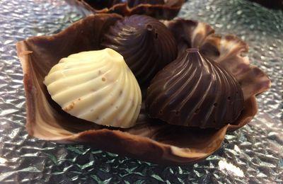 Coquille et ses 3 bouchées en chocolat