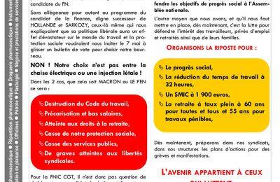 Fédération CGT de la chimie : Ni peste ni choléra !