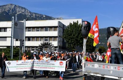 General Electric / ALSTOM Grenoble contre le saccage de la filière Hydro en France