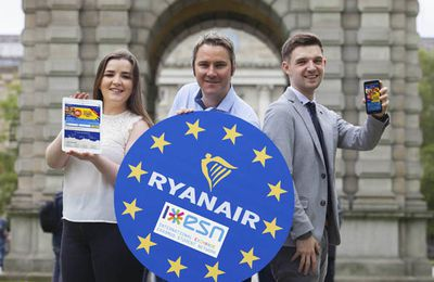 Ryanair lauches new Erasmus student network booking platform