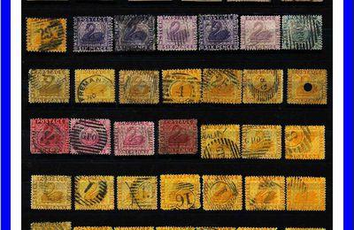 LES PREMIERS TIMBRES AUSTRALIE OCCIDENTALE 1854.