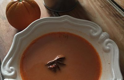 Bisque de crevettes à l'orange