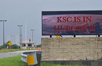 Le KSC pendant l'ouragan Irma