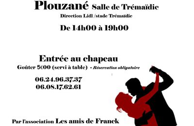 Thé dansant 2 avril à PLOUZANE