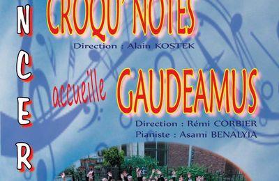Concert de la Chorale Croqu'Notes Le samedi 7 octobre