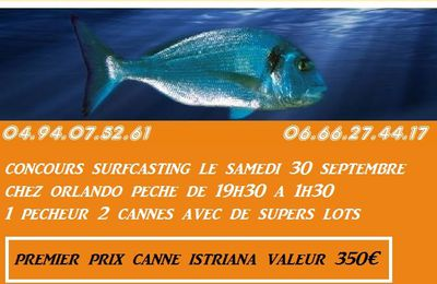 coucours surfcasting  du 30 septembre