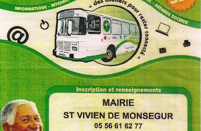 LE BUS NUMERIQUE A SAINT VIVIEN DE MONSEGUR LE 20 ET 21 MARS 2017