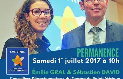 Permanence de Sébastien David & Emilie Gral