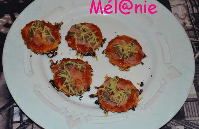 mini-pizza ou piccolinis