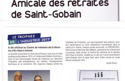 Bulletin de l'Amicale des Retraités de Saint-Gobain Juin 2017