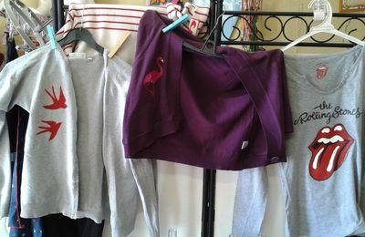 Custom de textile en cours