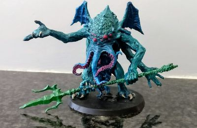 Figone resin Cthulhu painted