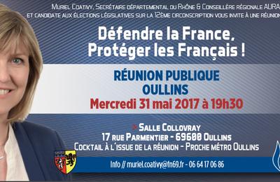 Réunion publique à Oullins de Muriel COATIVY, candidate dans la 12ème circonscription du Rhône