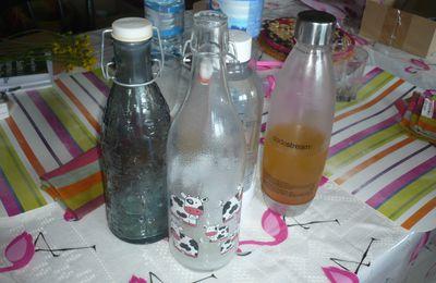 Ne plus mettre ses préparations maison dans des bouteilles plastiques vides :