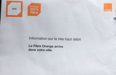 La fibre Optique, Orange arrive !!!!