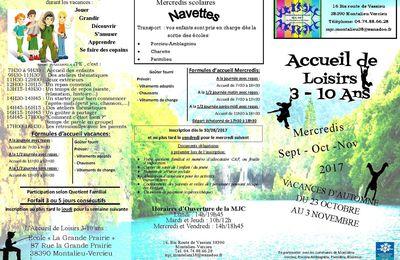 ALSH 3-10 ans Mercredis Sept-Oct-Nov & Vacances d'Automne