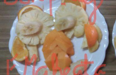 Assiette fruitée vitaminée