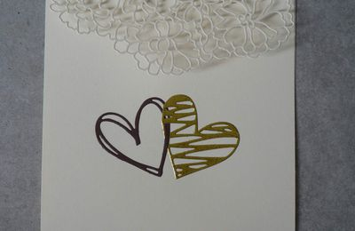 carte mariage double coeurs forme enveloppe