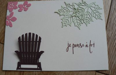 "carte 4 saisons ""je pense à toi"" stampin'up"