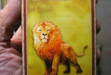 """FIGURINE du lion """""""" ASLAN """""""" de chez ANDREA"""