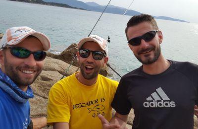 Pêche des gros sparidés daurades, dentis, pagres, sars...Team Pescador13 au complet!!!