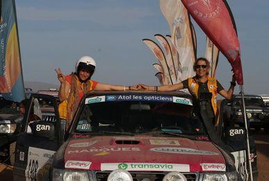 équipage 198 Corinne et Nicole, elles terminent 125 ème au général sur nissan patrol