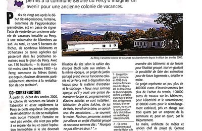 "Un article sur la reconversion de la ""colo"" au Percy sur: Transrural initiatives ● La revue des territoires ruraux"