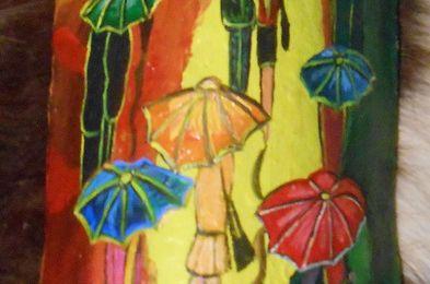 Jour de pluie et parapluies