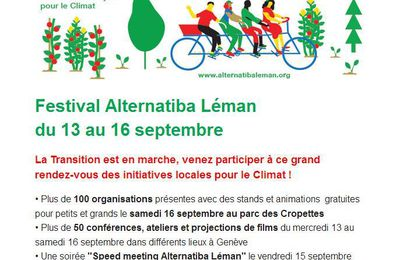 ALTERNATIBA Léman 13-16 sept.