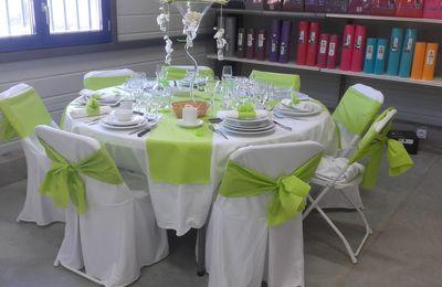 Ma table vert anis