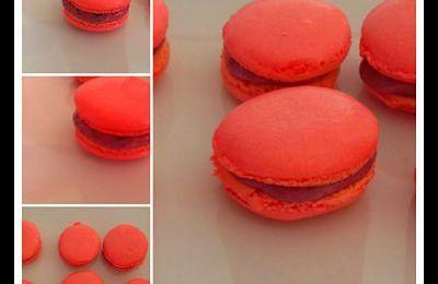 Macaron aux fruits rouges au thermomix ou sans